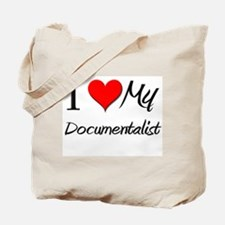 I Heart My Documentalist Tote Bag