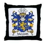 Meredith Family Crest Throw Pillow
