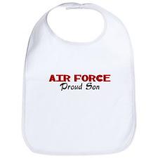 Air  Force Son (red) Bib