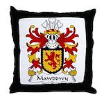 Mawddwy Family Crest Throw Pillow