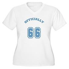 Officially 66 Women's Plus Size V-Neck T-Shirt