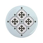 "Japanese Style Pattern Art 3.5"" Button (100 pack)"