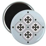"Japanese Style Pattern Art 2.25"" Magnet (10 pack)"