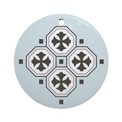 Japanese Style Pattern Art Ornament (Round)
