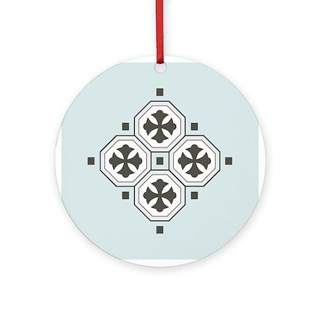 Japanese Style Pattern Art Ornament (Round)
