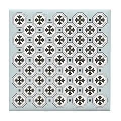 Japanese Style Pattern Art Tile Drink Coaster