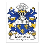 Mathews Family Crest Small Poster