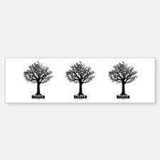 TREE hugger (black) Bumper Bumper Bumper Sticker