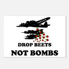 Drop Beets Not Bombs Postcards (Package of 8)