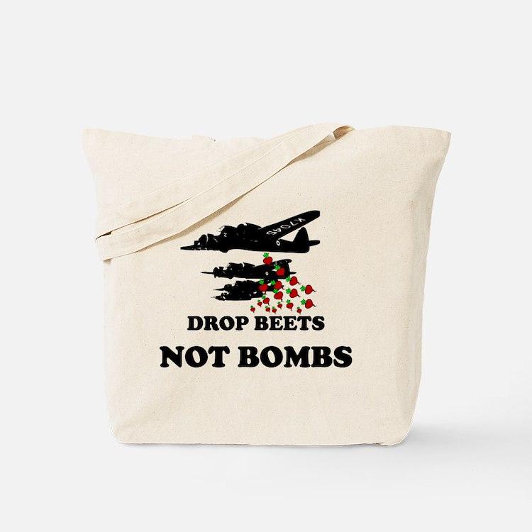 Drop Beets Not Bombs Tote Bag