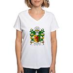 Marshal Family Crest Women's V-Neck T-Shirt