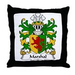 Marshal Family Crest Throw Pillow