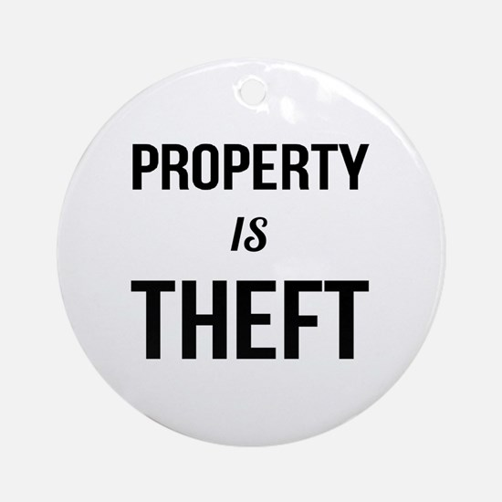 Cute Theft Round Ornament