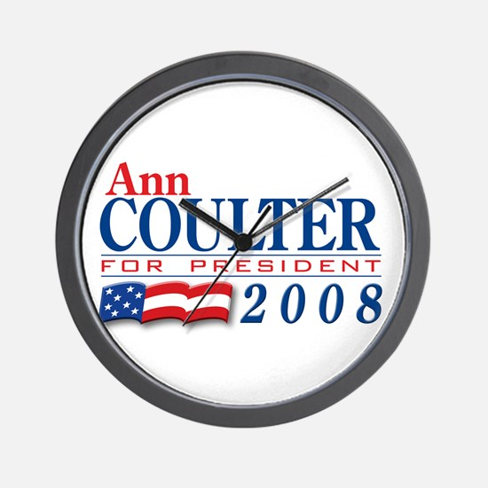 VoteWear! Coulter Wall Clock