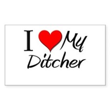 I Heart My Ditcher Rectangle Bumper Stickers