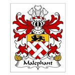 Malephant Family Crest Small Poster