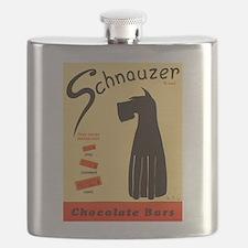 Schnauzer Bars Flask