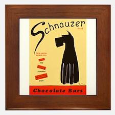 Schnauzer Bars Framed Tile