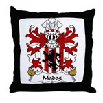 Madog Family Crest Throw Pillow