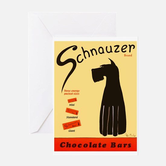 Schnauzer Bars Greeting Card
