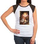 Queen / Welsh Corgi Women's Cap Sleeve T-Shirt