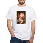 Queen / Welsh Corgi White T-Shirt