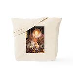 Queen / Welsh Corgi Tote Bag