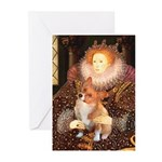 Queen / Welsh Corgi Greeting Cards (Pk of 10)