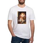 Queen / Welsh Corgi Fitted T-Shirt