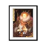 Queen / Welsh Corgi Framed Panel Print