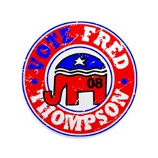 """Vote Fred for Pres! 3.5"""" Button"""