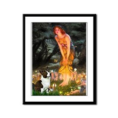 Fairies / Welsh Corgi Framed Panel Print