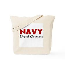 Navy Grandma (red) Tote Bag