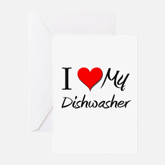 I Heart My Dishwasher Greeting Cards (Pk of 10)