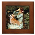 Ophelia's Welsh Corgi (P) Framed Tile
