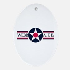Webb Air Force Base Oval Ornament