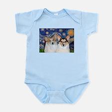 Starry Night / Corgi pair Infant Bodysuit