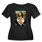 Mona / Corgi Pair (p) Women's Plus Size Scoop Neck