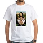 Mona / Corgi Pair (p) White T-Shirt