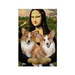 Mona / Corgi Pair (p) Rectangle Magnet (10 pack)