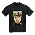 Mona / Corgi Pair (p) Kids Dark T-Shirt