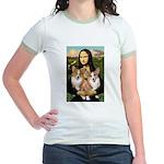 Mona / Corgi Pair (p) Jr. Ringer T-Shirt