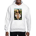 Mona / Corgi Pair (p) Hooded Sweatshirt