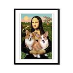 Mona / Corgi Pair (p) Framed Panel Print