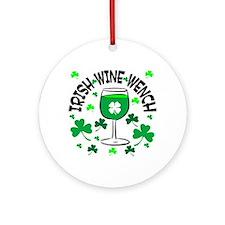Irish Wine Wench Ornament (Round)