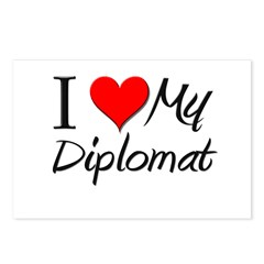 I Heart My Diplomat Postcards (Package of 8)