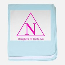 Daughter of Delta Nu baby blanket