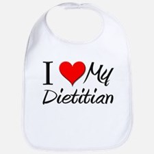 I Heart My Dietitian Bib