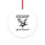 Stressed Cat Ornament (Round)