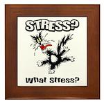 Stressed Cat Framed Tile
